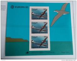 PORTOGALLO ( MADEIRA ) ANNO 1986 BF EUROPA PROTEZIONE DELLA NATURA E DELL' AMBIENTE - NUOVI MNH ** - Madeira