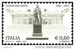 REPUBBLICA ITALIANA  ITALY  ANNO 2012 - CORTE DEI CONTI -  NUOVI MNH ** - 6. 1946-.. Repubblica