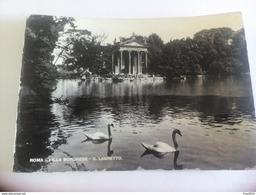 ITALY - ROMA ( ROMA )  VILLA BORGHESE, IL LAGHETTO - VIAGGIATA 1949 ( Francobollo Rovinato ) - Parks & Gardens