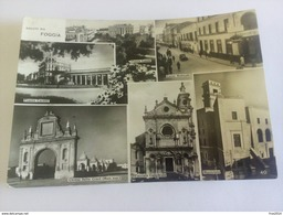 ITALY -  LUCERA - ( FOGGIA ) MINIATURE, SALUTI DA, AUTO D' EPOCA  - VIAGGIATA 1951 ( Francobollo Rotto ) - Foggia
