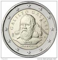 ITALIA 2014 -  ITALY - 2 EURO COMMEMORATIVO - SCIENZIATO GALILEO GALILEI - FIOR DI CONIO PROVENIENTE DA ROTOLINO - Italia