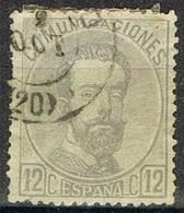 Sello 12 Centimos AMADEO, Matasellos Fechador BILBAO, Num 122 º - 1872-73 Reino: Amadeo I