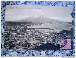 ITALY CAMPANIA - NAPOLI ( NAPOLI ) PANORAMA PRESO DALLA VILLA TOLENTINO - VIAGGIATA REGNO 1914 - Napoli