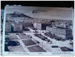 ITALY CAMPANIA - NAPOLI ( NAPOLI ) PIAZZA MUNICIPIO  E CASTEL SANT' ELMO - VIAGGIATA REGNO 1940 - Napoli