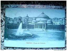 ITALY CAMPANIA - NAPOLI ( NAPOLI ) PIAZZA DEL PLEBISCITO - VIAGGIATA REGNO 1908 - Napoli