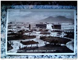ITALY CAMPANIA - NAPOLI ( NAPOLI ) GIARDINI DELLA LITORANEA E IL PORTO - VIAGGIATA REGNO 1938 - Napoli