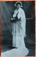 PHOTO FORMAT CARTE CONCARNEAU - 29 - REINE DES FILETS BLEUS 1946 (2) -SCANS RECTO VERSO-12 - Concarneau