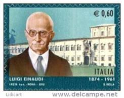 REPUBBLICA ITALIANA  ITALY  ANNO 2012 - POLITICO LUIGI EINAUDI  -  NUOVI MNH ** - 6. 1946-.. Repubblica