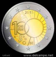 BELGIO -  BELGIE . 2 EURO ANNO 2013 - ISTITUTO METEOROLOGIA REALE - FIOR DI CONIO PROVENIENTE DA ROTOLINO - België