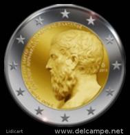 GRECIA -  GREECE - 2 EURO ANNO 2013 - ACCADEMIA DI PLATONE - FIOR DI CONIO PROVENIENTE DA ROTOLINO - Grecia
