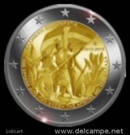 GRECIA -  GREECE - 2 EURO ANNO 2013 - UNIONE DI CRETA ALLA GRECIA - FIOR DI CONIO PROVENIENTE DA ROTOLINO - Grecia