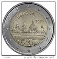 SPAGNA -  SPAIN  - 2 EURO ANNO 2013 - MONASTERO DELL' ESCORIAL - FIOR DI CONIO PROVENIENTE DA ROTOLINO - Spagna