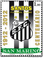 REPUBBLICA DI SAN MARINO - ANNO 2012 - SPORT CALCIO SANTOS  FUTEBUL CLUB - NUOVI MNH ** - Nuovi