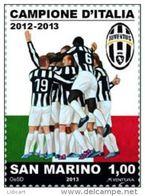 REPUBBLICA DI SAN MARINO - ANNO 2013 -  SPORT CALCIO JUVE CAMPIONE - NUOVI   ** MNH - Nuovi