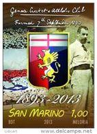 REPUBBLICA DI SAN MARINO - ANNO 2013 -  SPORT CALCIO GOLF GENOA - NUOVI   ** MNH - Nuovi