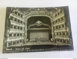 ITALY -  NAPOLI - ( NAPOLI ) TEATRO SAN CARLO, IL PIU' VASTO TEMPIO DELL' ARTE  - VIAGGIATA 1956 - Napoli
