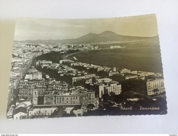 """ITALY -  NAPOLI - ( NAPOLI ) PANORAMA, TIMBRO ETICHETTA """" ARRUOLAMENTI VOLONTARI - VIAGGIATA 1953 ( Lire 10 Turistica ) - Napoli"""