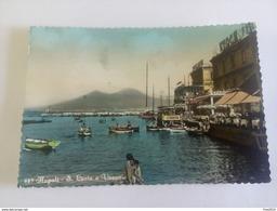 ITALY -  NAPOLI - ( NAPOLI ) SANTA LUCIA E VESUVIO, INDIRIZZATA A TEDDY RENO - VIAGGIATA 1956 ( Lire 10 Repubblica ) - Napoli