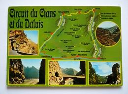 Cpsm Grand Format - CIRCUIT DU CIANS ET DU DALUIS   Carte Géographique Et  Curiosités - Landkarten