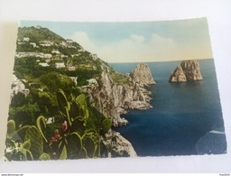ITALY -  CAPRI - ( NAPOLI ) I FARAGLIONI - VIAGGIATA 1961 - Napoli