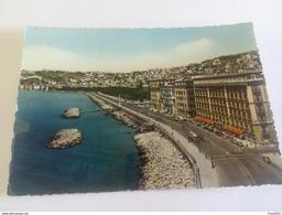 ITALY - NAPOLI - ( NAPOLI ) VIA PARTENOPE, AUTO BUS D' EPOCA - VIAGGIATA 1957 - Napoli