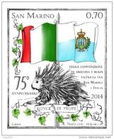 REPUBBLICA DI SAN MARINO -  ANNO 2014  -  AMICIZIA SAN MARINO ITALIA - EMISSIONE CONGIUNTA  - NUOVI  MNH ** - Nuovi