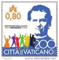 STATO CITTA' DEL VATICANO - VATIKAN STATE  - ANNO 2015 - EMISSIONE CONGIUNTA SAN GIOVANNI DON BOSCO - NUOVI MNH ** - Vaticano