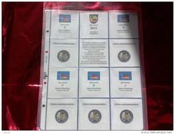 MASTERPHIL - FOGLI PER CONTENERE I 2 EURO COMMEMORATIVI - ANNO 2013 - GERMANIA 5 ZECCHE - NUOVI - Fogli Prestampati