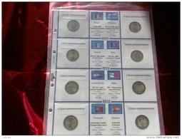 MASTERPHIL - FOGLI PER CONTENERE I 2 EURO COMMEMORATIVI - ANNO 2012 -  NUOVI - Fogli Prestampati