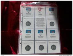MASTERPHIL - FOGLI PER CONTENERE I 2 EURO COMMEMORATIVI - ANNO 2012 -  GERMANIA 5 ZECCHE - NUOVI - Albums & Binders