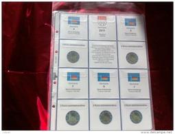 MASTERPHIL - FOGLI PER CONTENERE I 2 EURO COMMEMORATIVI - ANNO 2011 - GERMANIA 5 ZECCHE  - NUOVI - Materiale