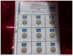 MASTERPHIL - FOGLI PER CONTENERE I 2 EURO COMMEMORATIVI - ANNO 2012 -  DECENNALE DELL' EURO - NUOVI - Fogli Prestampati