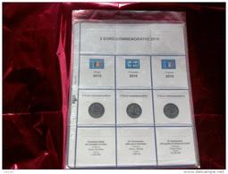 MASTERPHIL - FOGLI PER CONTENERE I 2 EURO COMMEMORATIVI - ANNO 2010 -  NUOVI - Materiale