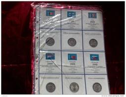 MASTERPHIL - FOGLI PER CONTENERE I 2 EURO COMMEMORATIVI - ANNO 2009 -   NUOVI - Materiale