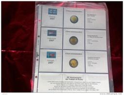 MASTERPHIL - FOGLI PER CONTENERE I 2 EURO COMMEMORATIVI - ANNO 2007 -   NUOVI - Materiale