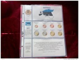 MASTERPHIL - FOGLI PER CONTENERE LE SERIETTE DELL' EURO ESTONIA - ANNO 2011 -  NUOVI - Materiale