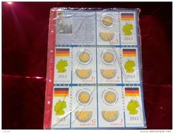 ABAFIL - FOGLI PER CONTENERE I 2 EURO COMMEMORATIVI - ANNO 2013 - GERMANIA 5 ZECCHE -  NUOVI - Materiale