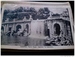 ITALY CAMPANIA - CASERTA  ( CASERTA ) PALAZZO REALE  CASCATA LO SPECCHIO VIAGGIATA REGNO 1935 - Caserta