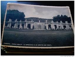 ITALY CAMPANIA - CASERTA  ( CASERTA ) PALAZZO REALE  CASCATA LO SPECCHIO  E LE GROTTE DEI VENTI VIAGGIATA REGNO 1940 - Caserta