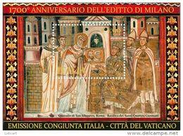REPUBBLICA ITALIANA  ITALY  ANNO 2013 - BF EDITTO DI MILANO EMISSIONE CONGIUNTA CON VATICANO -  NUOVI MNH ** - 6. 1946-.. Repubblica
