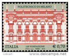 REPUBBLICA ITALIANA  ITALY  ANNO 2013 - SCUOLE POLITECNICO DI MILANO -  NUOVI MNH ** - 6. 1946-.. Repubblica