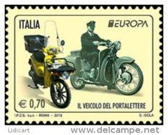 REPUBBLICA ITALIANA  ITALY  ANNO 2013 - EUROPA IL VEICOLO DEL PORTALETTERE -  NUOVI MNH ** - 6. 1946-.. Repubblica