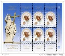 STATO CITTA' DEL VATICANO - VATIKAN - PAPA FRANCESCO - ANNO 2014  - MF CANONIZZAZIONE GIOVANNI PAOLO II -  NUOVI  MNH ** - Vaticano