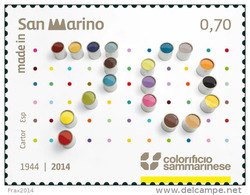 REPUBBLICA SAN MARINO - ANNO 2014  - COLORIFICIO SAMMARINESE  -  NUOVI  MNH ** - Nuovi