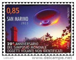 REPUBBLICA DI SAN MARINO - ANNO 2013 - UFO SIMPOSIO OGGETTI VOLANTI NON IDENTIFICATI - NUOVI   ** MNH - Nuovi