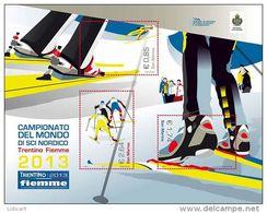 REPUBBLICA DI SAN MARINO - ANNO 2013 - SPORT BF SCI NORDICO - NUOVI   ** MNH - Nuovi