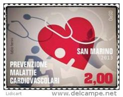 REPUBBLICA DI SAN MARINO - ANNO 2013 -  MALATTIE CARDIOVASCOLARI - NUOVI   ** MNH - Nuovi