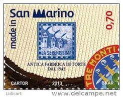 REPUBBLICA DI SAN MARINO - ANNO 2013 -  ANTICA FABBRICA DI TORTE LA SERENISSIMA - NUOVI   ** MNH - Nuovi