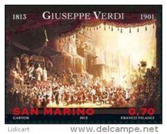 REPUBBLICA DI SAN MARINO - ANNO 2013 -  MUSCICA COMPOSITORI GIUSEPPE VERDI RICHARD WAGNER -  NUOVI   ** MNH - Nuovi