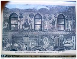 ITALY SICILIA - MONREALE  - ( PALERMO )  INTERNO DUOMO ADAMO IN PARADISO MOSAICI SEC XII - VIAGGIATA REGNO - Palermo